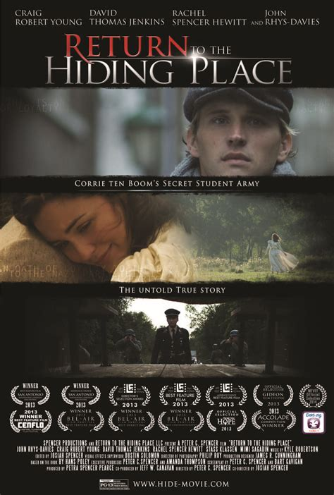 """""""RETURN TO THE HIDING PLACE,"""" BASED ON TRUE LIFE STORY OF"""