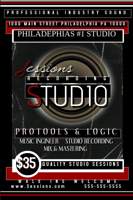 Recording Studio template | PosterMyWall