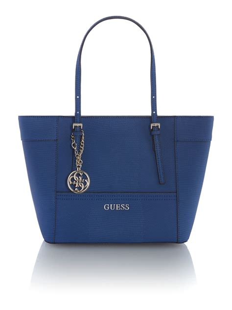 Guess Black Tote Bag in Blue - Lyst