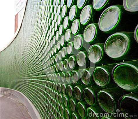 Green Glass Bottle Wall Royalty Free Stock Photo - Image