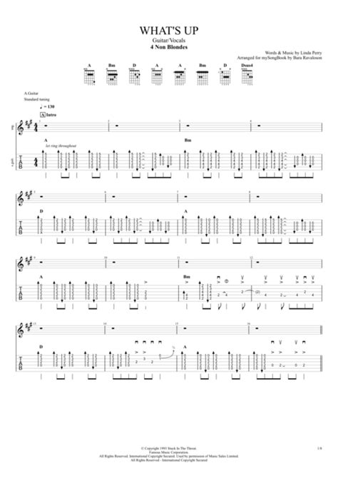 What's Up? by 4 Non Blondes - Guitar/Vocals Guitar Pro Tab